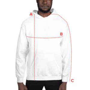 Heavy Blend Hoodie Size Guide - Measure Yourself